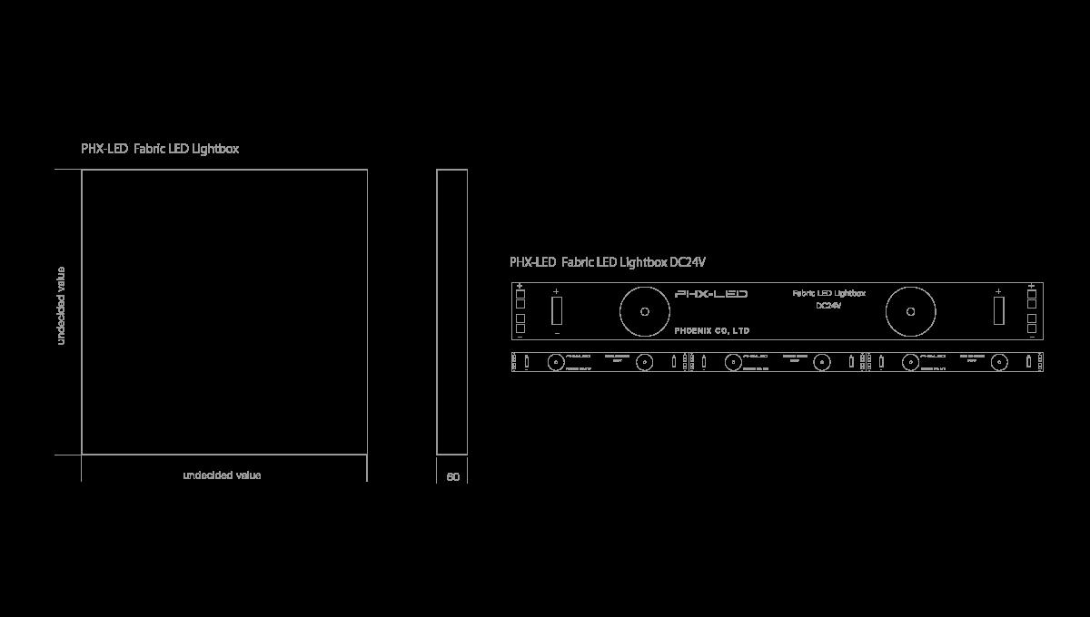 PHX-LED ファブリックシートライトボックス