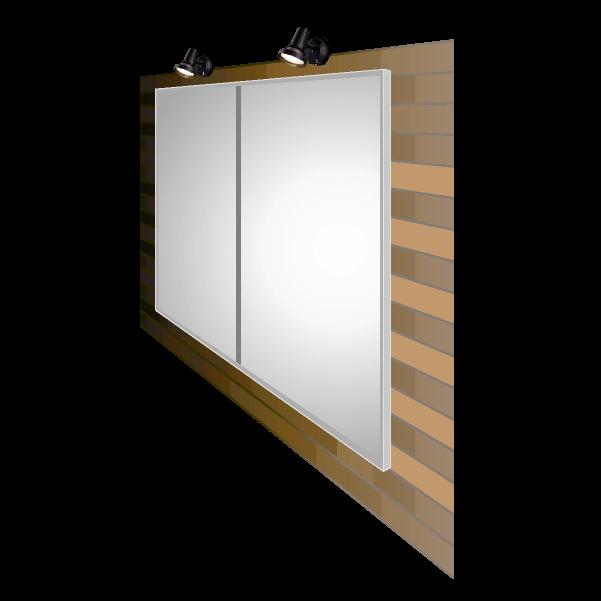 LEDライトパネル 防滴 壁面・屋外設置タイプ