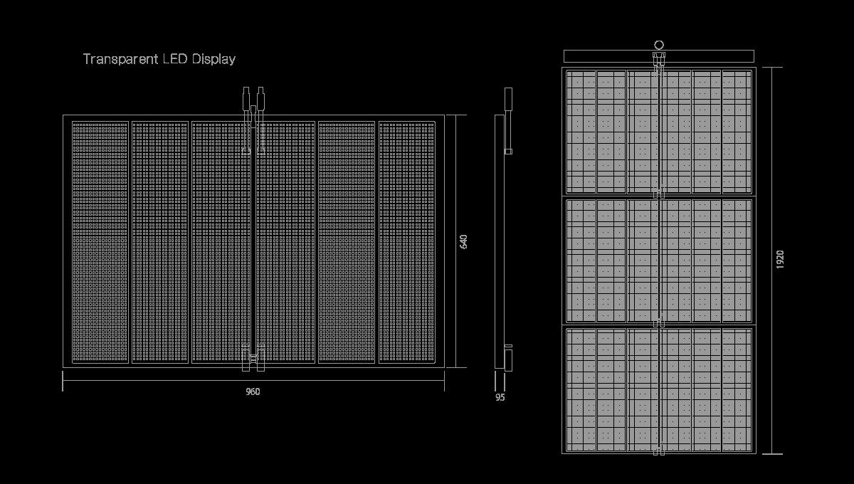 PHX-LED 連結ライトパネル 透過型LEDディスプレイ