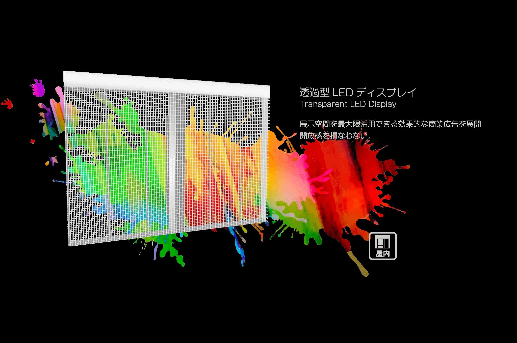 透過型LEDディスプレイ